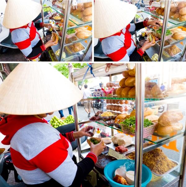 making the bánh mì