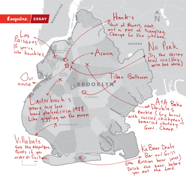 map of Wondrich's Brooklyn originals