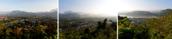 luang prabang from the top