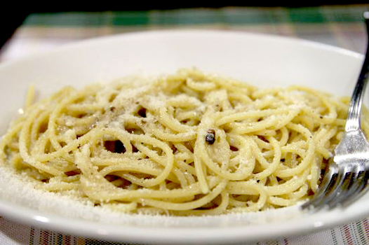 the cacio e pepe is NOT to be missed