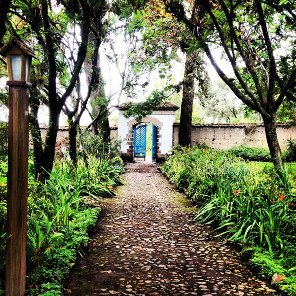 the doorway to el jardin
