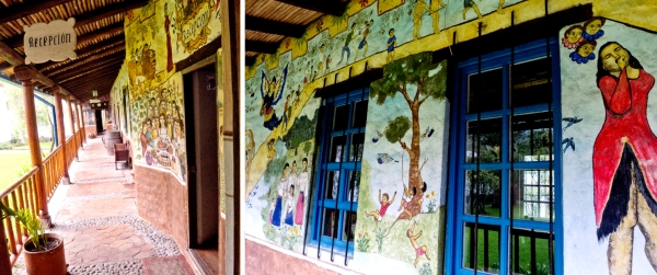 original art decorates various estate walls
