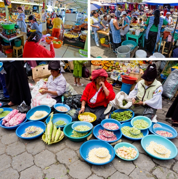 visiting the markets in Otavalo should be on any Ecuador traveler's bucket list, but instead of heading straight to the Mercado Artesanal check out Mercado 24 de Mayo, just to the left of the main market entrance