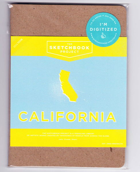 my sketchbook: ready to be filled and tour California