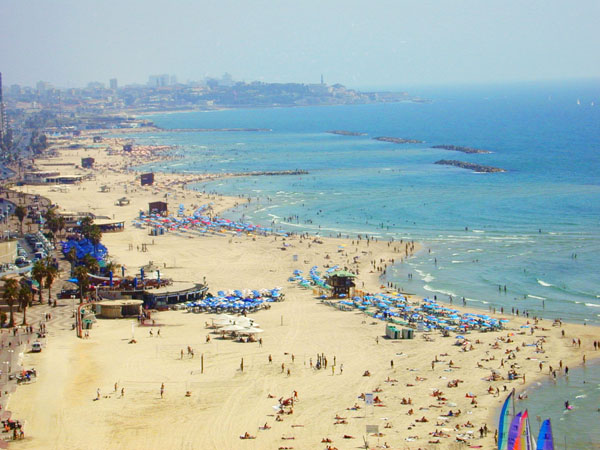 THIS beach (photo by inisrael.com)