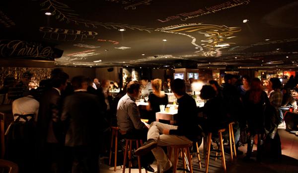 the bar at Mama Shelter (photo courtesy of Deborah Antoinat)