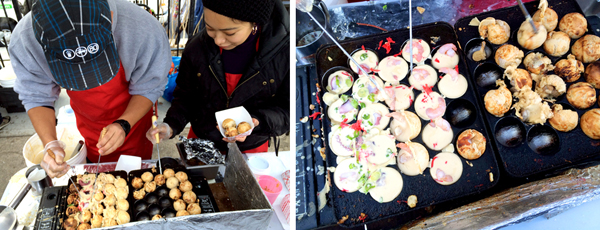 Topped with what else but teriyaki sauce, the balls are as popular at Smorgasburg as they are in Tokyo.