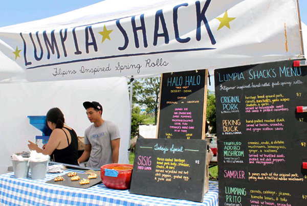 Filipino inspired treats at the Lumpia Shack (photo courtesy of La Vida Laura)