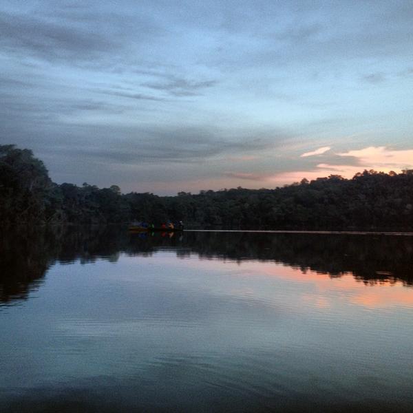 Sunset on Lake Chalalan.