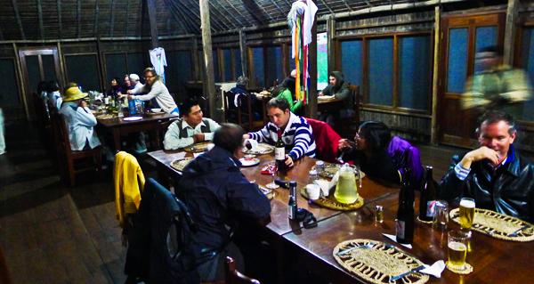 Dinner time at Chalalan