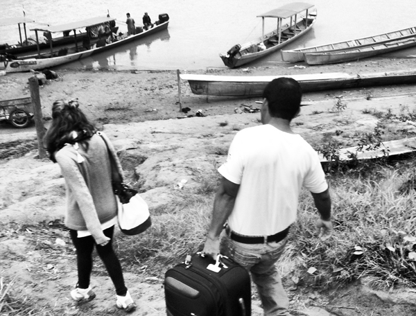 Tours to Madidi National Park begin at the makeshift port on the banks of the Beni River. For once, I wasn't the one who brought the most luggage.