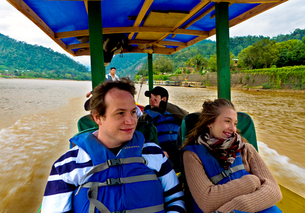 Making our way to Chalalan, one of the few ecolodges located deep within Madidi, approximately a 3 hour boat ride away.