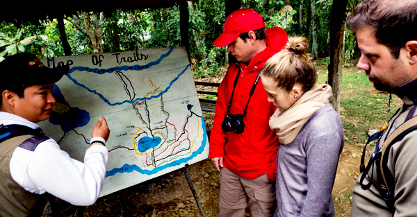 Once at Chalalan, our guide gives us some background and geographic education for our Amazon adventure.